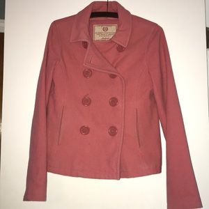 Abercrombie & Fitch pink pea coat